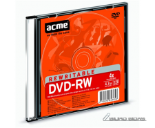 Acme DVD-RW 4.7 GB, 4 x, Plastic Slim Box 003236