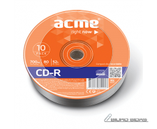 Acme CD-R 0.7 GB, 52 x, 10 Pack Shrink 005279