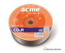 Acme CD-R 0.7 GB, 52 x, 25 Pcs. Shrink 005280