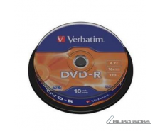 Verbatim DVD-R AZO Matt Silver 4.7 GB, 16 x, 10 Pack Sp..