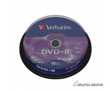 Verbatim DVD+R AZO Matt Silver 4.7 GB, 16 x, 10 Pack Sp..