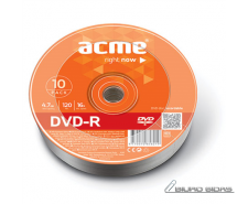 Acme DVD-R 4.7 GB, 16 x, 10 Pcs. Shrink 013788