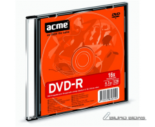 Acme DVD-R 4.7 GB, 16 x, Plastic Slim Box 013790