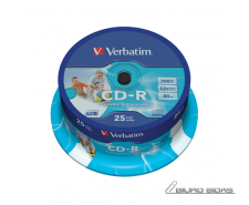 Verbatim CD-R AZO Wide Printable 0.7 GB, 52 x, 25 Pack ..