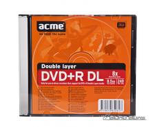 Acme DVD+R Double Layer 8.5 GB, 8 x, Slim Box 016290