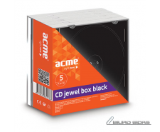 ACME CD Boxes jewel black 5 pack 036444