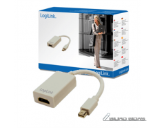 Logilink Adapter Mini DisplayPort to HDMI with Audio: H..
