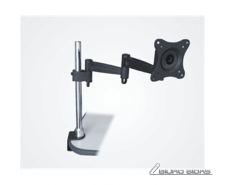 Sunne Desk Mount, Turn, Tilt, Black/Silver 085570