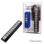 Logilink USB 2.0 Hub-10 port whit power adapt..