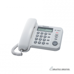 Panasonic Corded KX-TS560FXW 588 g, White, Caller ID, Phonebook capacity 50 entries, Built-in display, 198 x 195 x 95 mm 088536