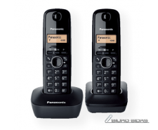 Panasonic Cordless KX-TG1612FXH Black, Caller ID, Wirel..
