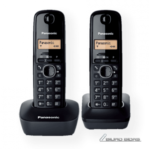 Panasonic Cordless KX-TG1612FXH Black, Caller ID, Wireless connection, Phonebook capacity 50 entries, Built-in display, Conference call 088545