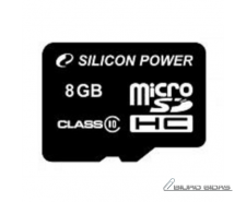 SILICON POWER 8GB, MICRO SDHC, CLASS 10 WITHOUT ADAPTER..