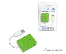 Logilink USB 2.0 Hub 4-Port, Smile, Green 109963