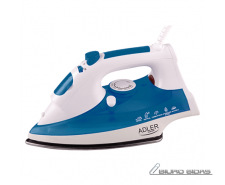 Iron Adler AD 5022 White/Blue, 2200 W, With cord, Anti-..