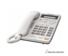 Panasonic Corded KX-TS620FXW White, Caller ID, Built-in..
