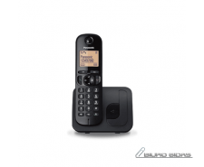 Panasonic Cordless KX-TGC210FXB Black, Built-in display..