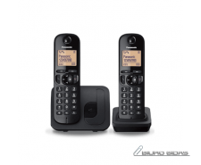 Panasonic Cordless KX-TGC212FXB Black, Built-in display..
