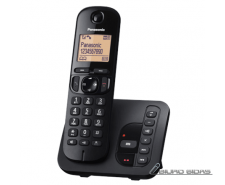 Panasonic Cordless KX-TGC220FXB Black, Built-in display..