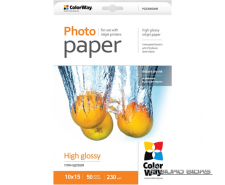 ColorWay High Glossy Photo Paper, 50 sheets, 10x15, 230..