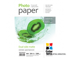 ColorWay Matte Dual-Side Photo Paper, 20 sheets, A4, 22..