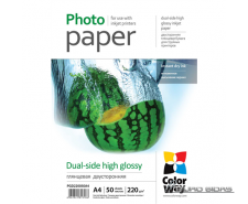 ColorWay High Glossy dual-side Photo Paper, 50 sheets, ..