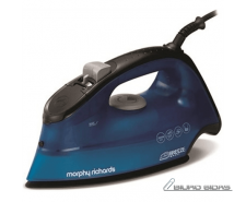 Iron Morphy richards 300261 Blue, 2400 W, With cord, Co..