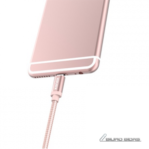 Kanex Premium Lightning to USB 4ft Braided Charge and Sync Cable - Rose Gold 171814