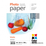 ColorWay Matte Photo Paper, 20 Sheets, A4, 19..