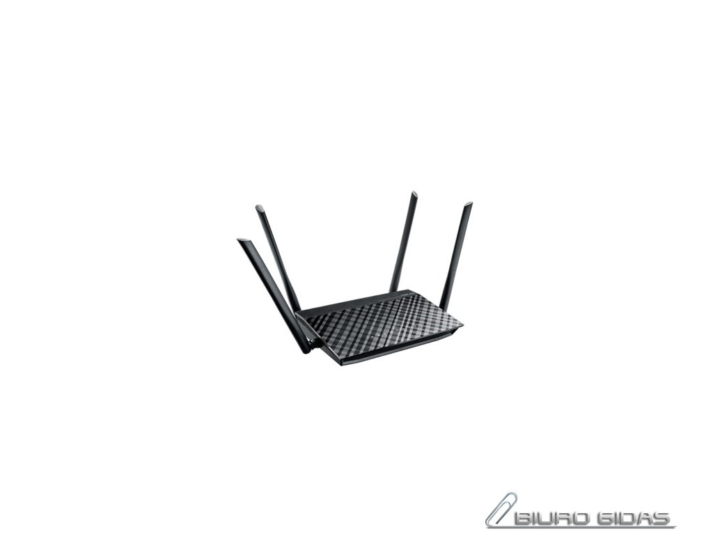 Asus Router RT-AC1200G+ 10/100/1000 Mbit/s, Ethernet LAN (RJ-45) ports 4,  2 4GHz/5GHz, Wi-Fi standards 802 11ac, 300+867 Mbit/s, Antenna type