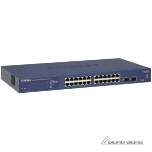 Netgear Switch GS724T Web Management, Rack mountable, 1 Gbps (RJ-45) ports quantity 24, SFP ports quantity 2, Power supply type Single 174630