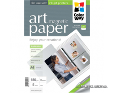 ColorWay ART Matte Magnetic Photo Paper, 5 Sheets, A4, ..