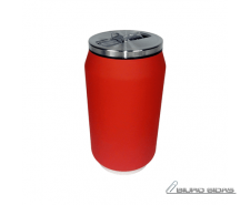 Yoko Design Isotherm Tin Can 280 ml, Soft touch red