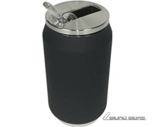 Yoko Design Isotherm Tin Can 280 ml, Soft touch black