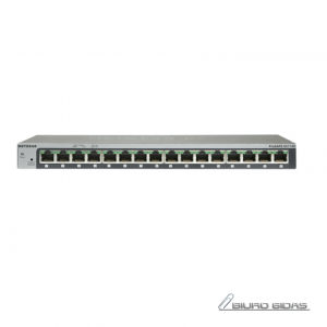 Netgear Switch GS116 Unmanaged, Desktop, 1 Gbps (RJ-45) ports quantity 16, Power supply type External 183852