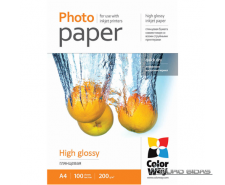 ColorWay High Glossy Photo Paper, 100 sheets, A4, 200 g..