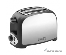 Camry Toaster CR 3208 Grey/black, Plastic, 750 W, Numbe..