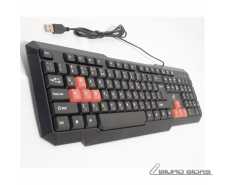 Super power Keyboard KB-2020 with silk printing and red..