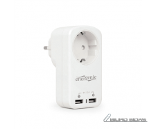 Gembird Universal 2-port 5V/2A USB charger with pass th..