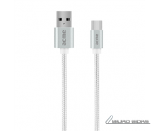 Acme Cable CB2041S 1 m, Silver, USB A, Type-C 210462