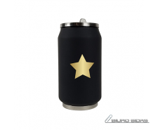 Yoko Design Isotherm Tin Can, Black with star pattern, ..