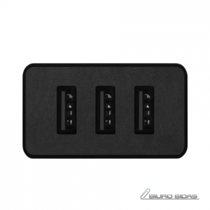 Acme Wall charger CH206 3 x USB Type-A, Black, DC 5 V, 3.4 A (17 W) 212783