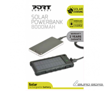 Port Connect Solar Power Bank Battery, 4 smartphone cha..