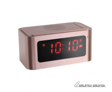ClipSonic Bluetooth alarm clock speaker TES186P Rose Go..