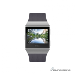 Fitbit Ionic Colour LCD, 320 g, Touchscreen, Bluetooth, Heart rate monitor, Blue Gray/White, GPS (satellite) 221784