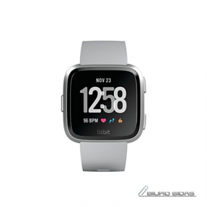 Fitbit Versa (NFC) smartwatch Color LCD, Touchscreen, Bluetooth, Heart rate monitor, Gray / Silver Aluminum 221806
