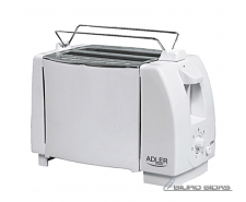 Adler Toaster AD 33  White, Plastic, 750 W, Number of s..