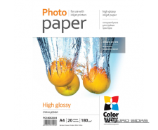 ColorWay Photo Paper 20 pcs. PG180020A4 Glossy, White, ..