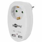 Goobay 40885  16 A safety socket with 2 USB p..