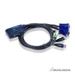Aten 2-Port USB VGA/Audio Cable KVM Switch (0..